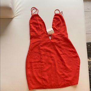 Revolve superdown orange dress